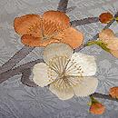 椿に梅刺繍名古屋帯 質感・風合