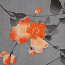 桜に小鳥江戸縮緬の名古屋帯 質感・風合