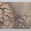 満月に桜の名古屋帯 前柄
