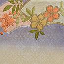 地紙に藤と桜の刺繍名古屋帯 前柄