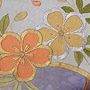 地紙に藤と桜の刺繍名古屋帯 質感・風合