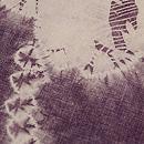 鹿角紫根染め名古屋帯 質感・風合