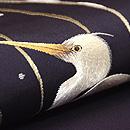 川辺に鷺刺繍名古屋帯 質感・風合