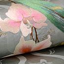 立涌に春蘭の刺繍開き名古屋帯 質感・風合