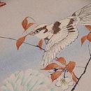 四季の花に野鳥江戸縮緬の名古屋帯 質感・風合