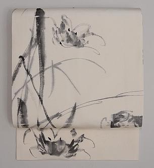 蟹の手描き名古屋帯