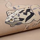 カエルのお相撲図綴れの単衣帯 質感・風合
