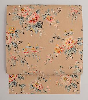 ムクゲの花 ヨーロッパ更紗名古屋帯