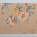 ムクゲの花 ヨーロッパ更紗名古屋帯 前柄