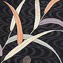 水辺に葦文様刺繍紗の名古屋帯 質感・風合