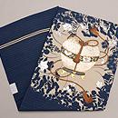 虫かごの刺繍絽の名古屋帯 帯裏