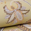 洛風林製 アールヌーヴォー文様白茶袋帯 質感・風合