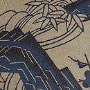 城間榮順作 芭蕉布藍型染め「山河」名古屋帯 質感・風合