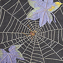 黒地蜘蛛の巣文様絽の名古屋帯 質感・風合