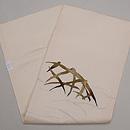 白地蛇籠の刺繍紗名古屋帯 帯裏
