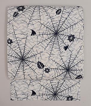 蜘蛛の巣文様麻の名古屋帯