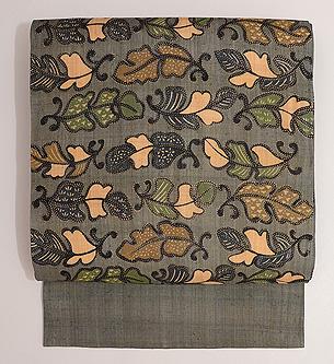 芭蕉布の型染め名古屋帯