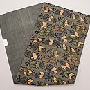 芭蕉布の型染め名古屋帯 帯裏