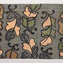 芭蕉布の型染め名古屋帯 前柄