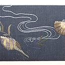 貝尽くし刺繍の名古屋帯 前柄