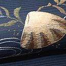 貝尽くし刺繍の名古屋帯 質感・風合