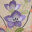 秋花籠盛り文様紋紗の刺繍名古屋帯 質感・風合