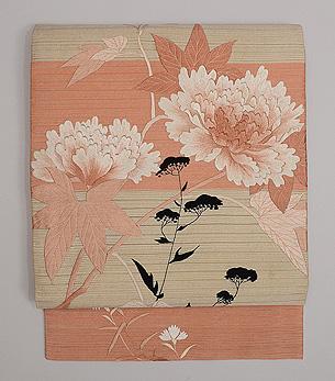 秋草の図刺繍付帯