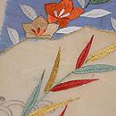 扇面に秋草の図刺繍名古屋帯 質感・風合