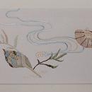 貝の刺繍夏名古屋帯 前柄