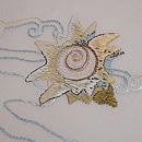 貝の刺繍夏名古屋帯 質感・風合