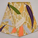網手に笹文様紗の丸帯 帯裏