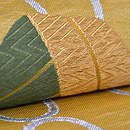 網手に笹文様紗の丸帯 質感・風合