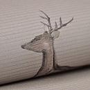 鹿文様絽の名古屋帯 質感・風合