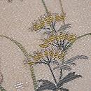 秋草に水桶文様の名古屋帯 質感・風合