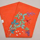 萩に赤とんぼ刺繍文紗名古屋帯 帯裏