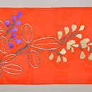 萩に赤とんぼ刺繍文紗名古屋帯 前柄