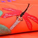 萩に赤とんぼ刺繍文紗名古屋帯 質感・風合