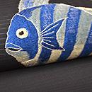 黒地魚の刺繍名古屋帯 質感・風合