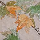 紅葉絽紗の刺繍名古屋帯 質感・風合