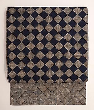 インドネシア 石畳文様バティック名古屋帯