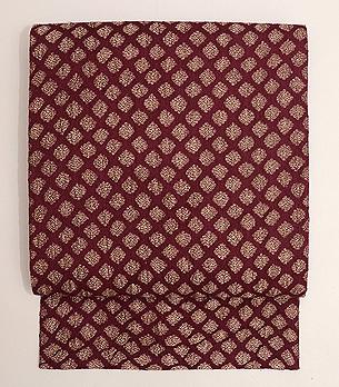 インド金銀紋織名古屋帯