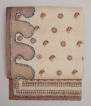 インド フルカリ刺繍の名古屋帯
