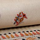 インド フルカリ刺繍の名古屋帯 質感・風合
