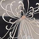 石畳に糸菊文様刺繍名古屋帯 質感・風合