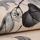 柿枝にカラス墨絵の名古屋帯 質感・風合