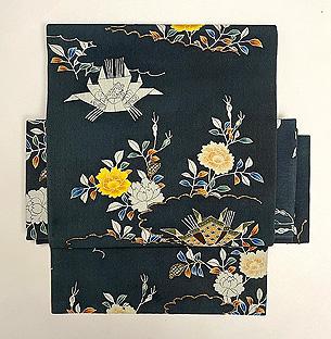 グレー地バラに飾り熨斗名古屋付帯