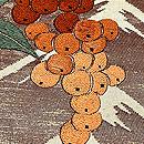 檜垣文様に菊刺繍の名古屋帯 質感・風合