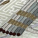 雅楽楽器の刺繍名古屋帯 質感・風合