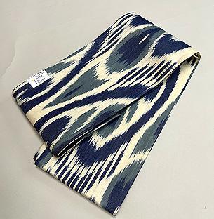 ブルー系アドラス半巾帯