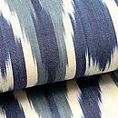 ブルー系アドラス半巾帯 前柄